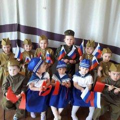 Военный парад дошколят