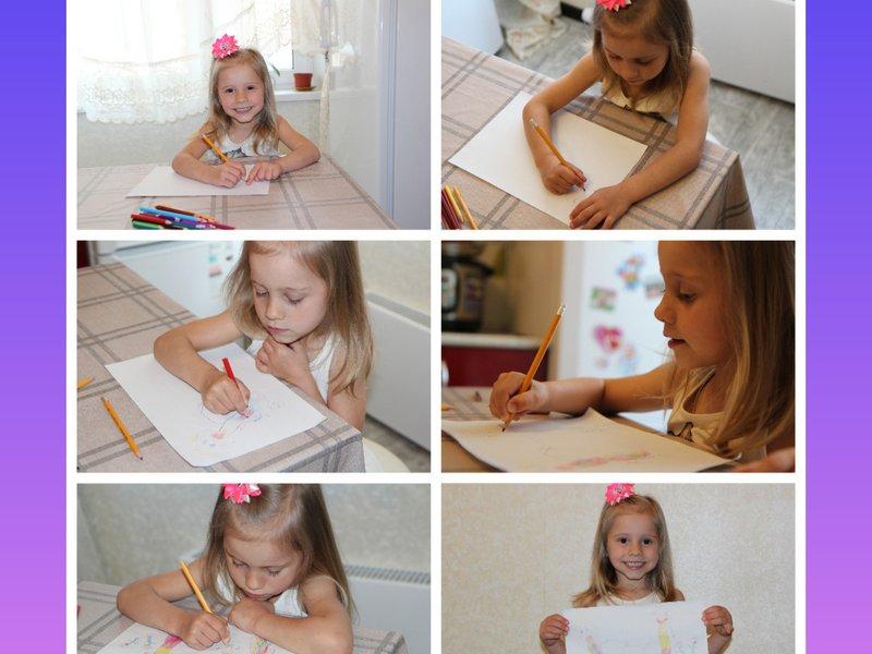 """Детки второй младшей группы """"Акварельки"""" поделились своими рисунками и показали, тем самым, как они помогают своим мамам и бабушкам, в куклы играют тепло сохраняют."""