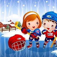 Учимся играть в хоккей.